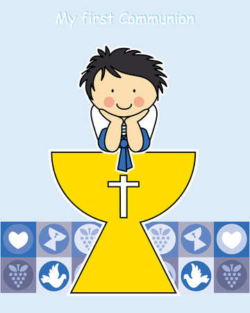 Boy First Communion card