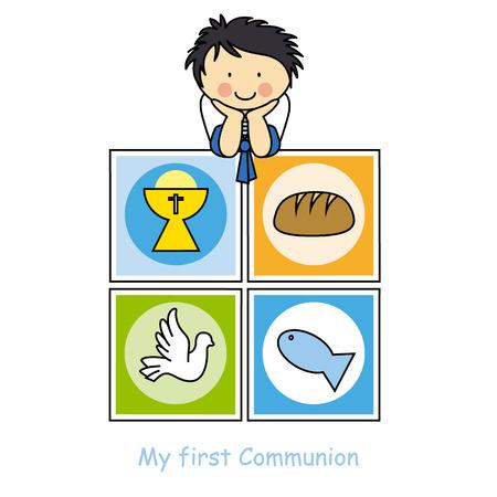 first communion: Boy First Communion card