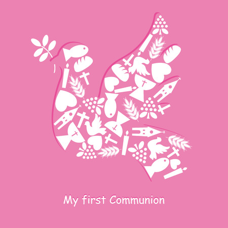 confirmacion: Tarjeta de Invitaci�n Primera Comuni�n