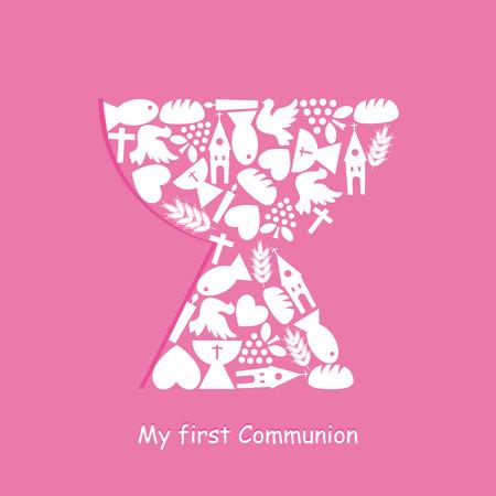 Pierwsza Komunia Zaproszenie Card