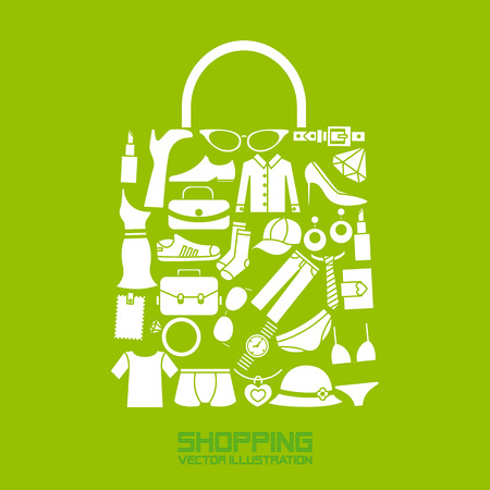 fashion bag: shopping icons
