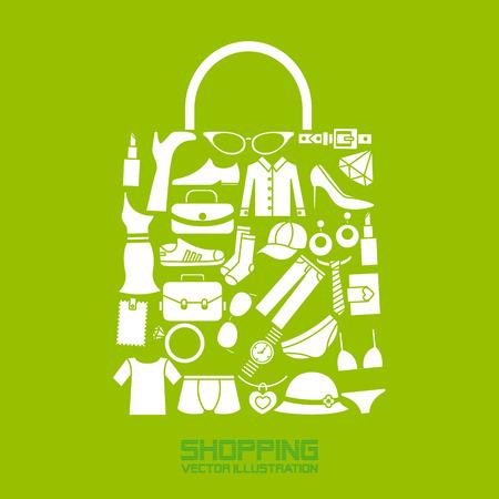shopping bag icon: Shopping-Ikonen Illustration