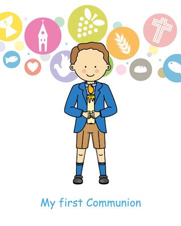 première communion: Boy première communion