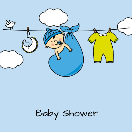 dresses: baby boy shower card
