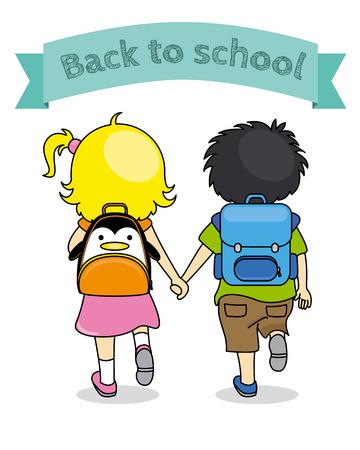 children holding hands: children holding hands back to school