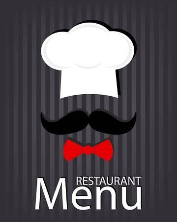 restaurant menu card Illustration