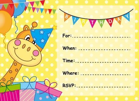 compleanno: Birthday Card Invitation