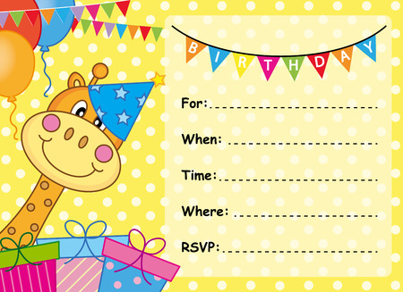 birthday card: Invitation Card Birthday