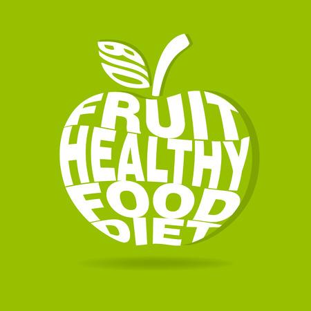 diet food: apple logo vector