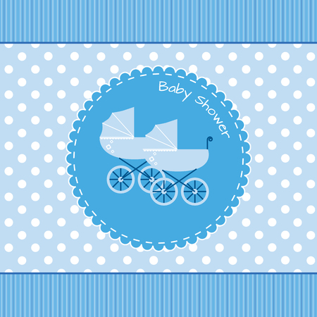 postcard background: Twins baby shower