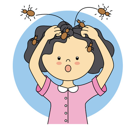 lice: child with lice