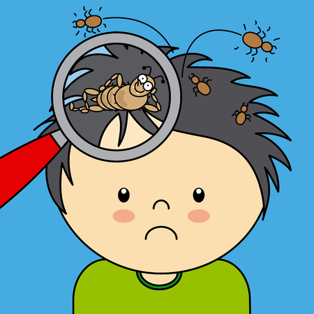 child with lice