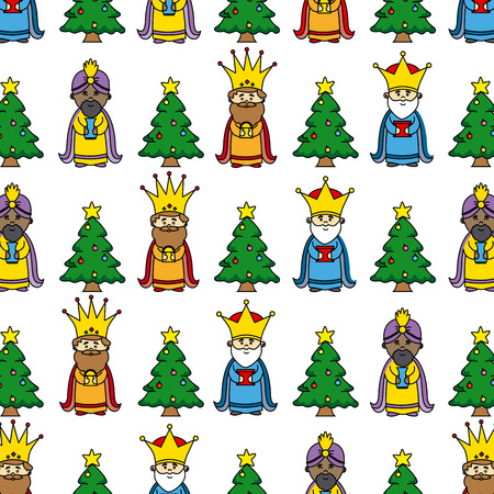 melchior: Christmas background. three wise men