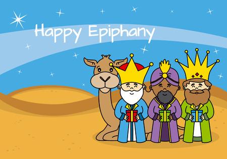 card happy epiphany Illustration