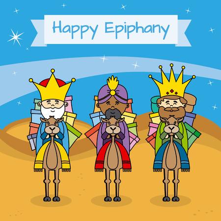 balthazar: card happy epiphany Illustration