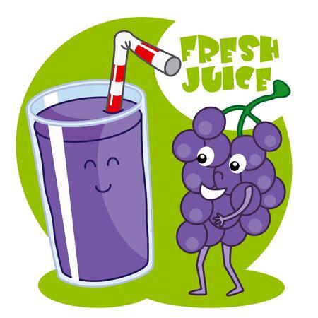 beverage menu: natural grape juice