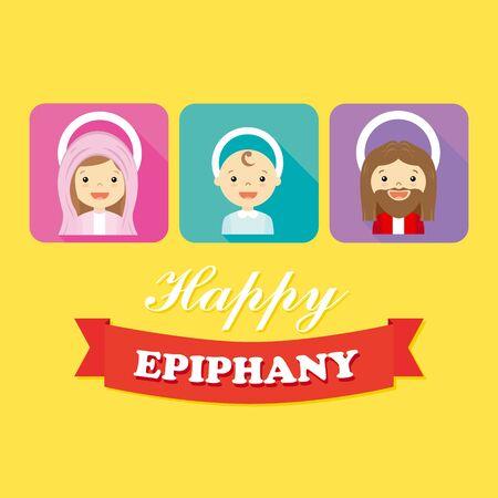 epiphany: Christmas People. Happy epiphany Illustration