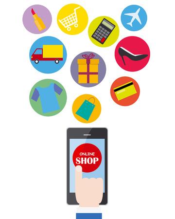 vector de negocio compras en línea