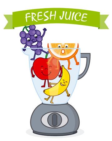 gastronomy: fruit in a blender to make juice