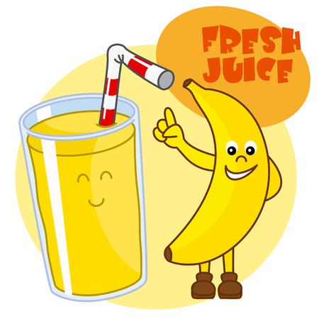 beverage: natural banana juice