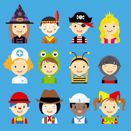 cartoon witches: ni�os avatar carnaval