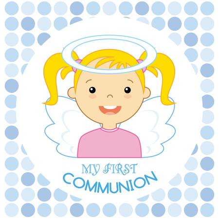 baby angel: Angelo ragazza. la mia prima comunione
