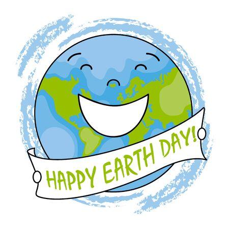 planeta tierra feliz: feliz día de la Tierra. feliz globo