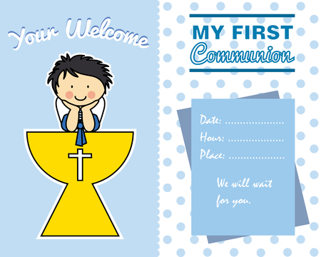 grail: Boy First Communion card