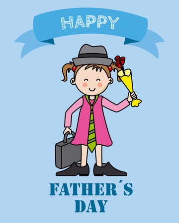 happy fathers day card: Happy Fathers Day card vector