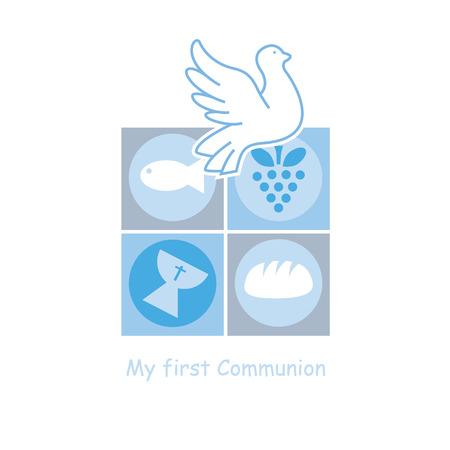 Jongen eerste communie kaart