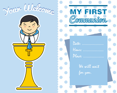 grail: Boy First Communion card