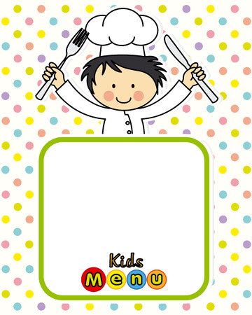 children clothing: boy chef. space for text or photo