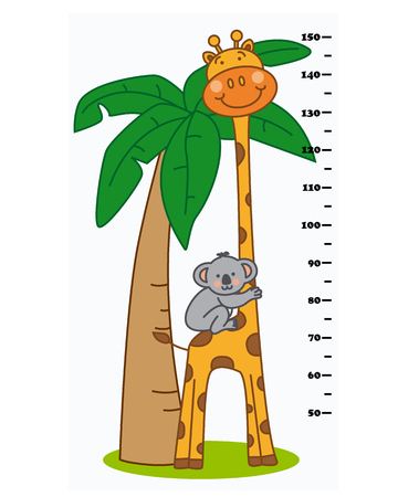 infant baby: meter wall animals Illustration