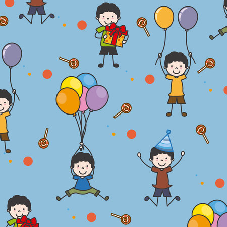 children party: party background. children celebrating a party