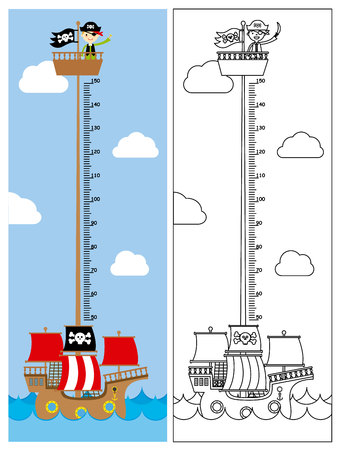 Pirate ship meter wall