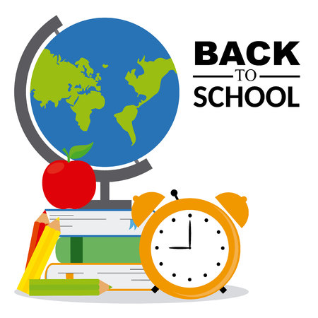 world class: back to school. icons of education Illustration