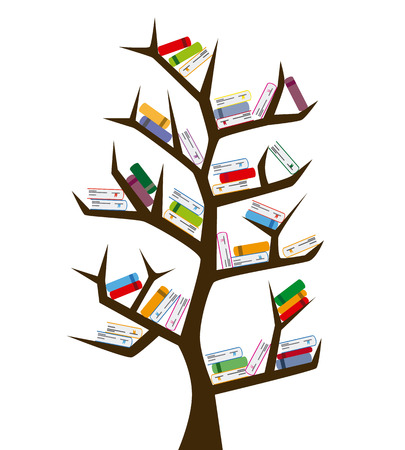 Tree of knowledge. tree and books
