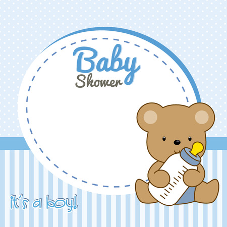 marco cumpleaños: Ducha del bebé. oso del bebé trama