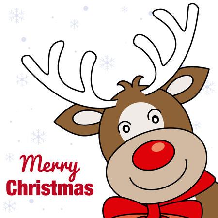 reno: merry christmas card. smiling face of a Reno