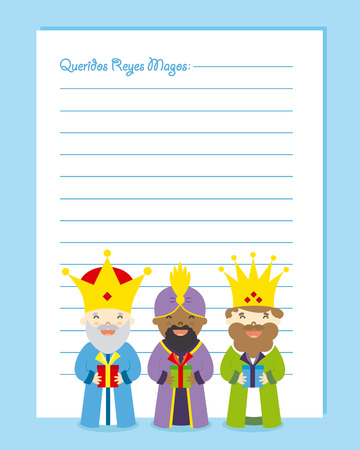 melchior: Letter to the three kings of orient. Dear wise men written in Spanish