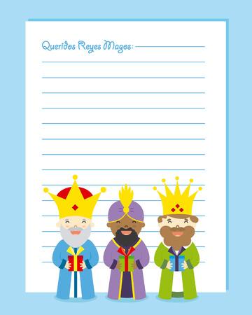 caspar: Letter to the three kings of orient. Dear wise men written in Spanish