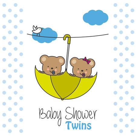 Twins baby shower. Bears