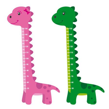 millimeters: meter wall dinosaur