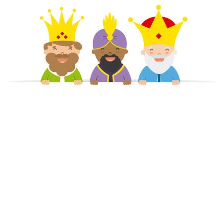 東洋の 3 人の王。空白スペース