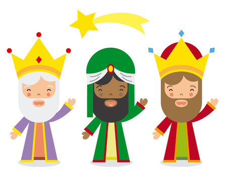 three kings: The three kings of orient