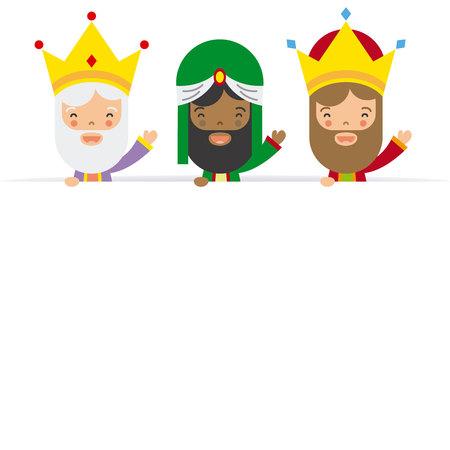 Tre re di oriente. spazio bianco Archivio Fotografico - 68302073