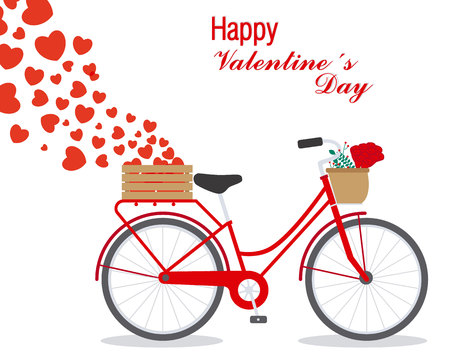 Great card for Valentines Day. Cute bike with hearts.