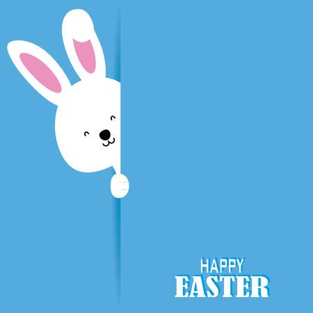 lapin blanc: carte Joyeuses Pâques. lapin