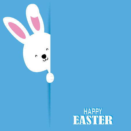 greeting cards: Happy easter card. Rabbit