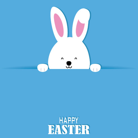 Happy easter card. Rabbit